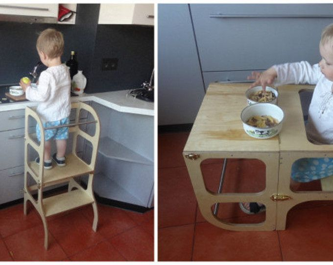 Helper Tower Table Chair All In One Quot Step N Sit