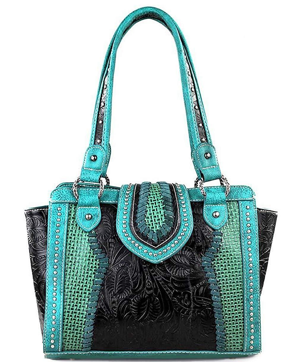 Trinity Ranch Concealed Carry Floral Embossed Zip-Top Tote ... 243a90034e167