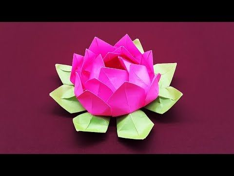 Photo of DIY Paper Flower Tutorial step by step – Beautiful Origami Lotus Flower