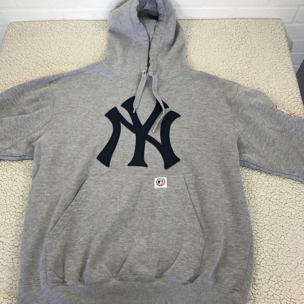 the latest 3e294 80506 NYY Gray Logo Sweatshirt Hoodie MLB New York Yankees Men's ...