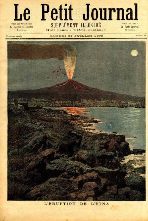 Le Petit Journal 1891 1893 Le Petit Journal Journal Volcan