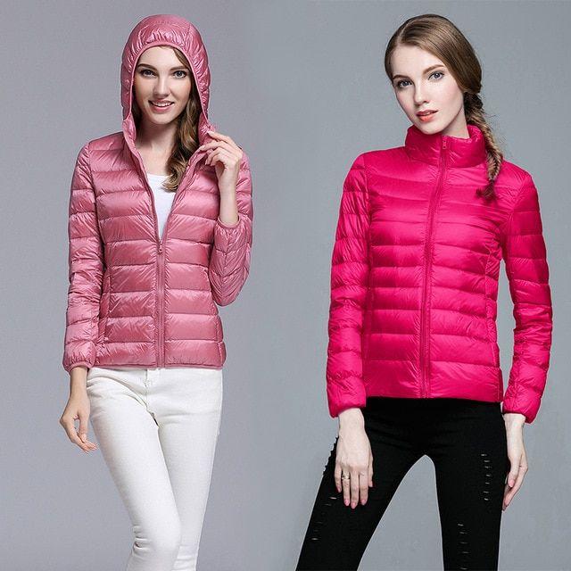 10e9ddb37ba Oversized Down Jacket Women hooded duck down coat ultra light outwear winter  portable plus size female. Visit. February 2019