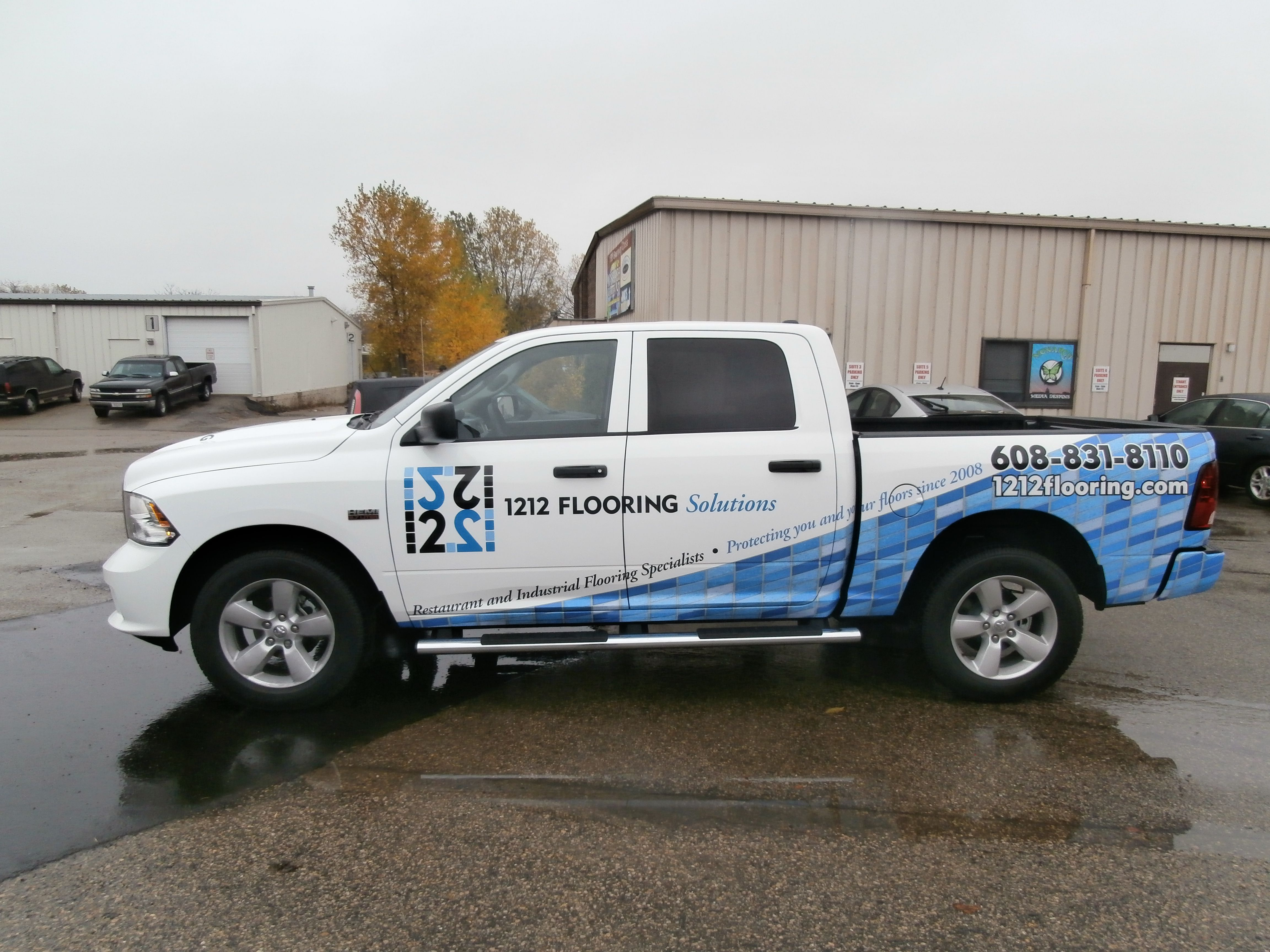 1212 Flooring Truck Graphics Done By Monarch Media Designs In