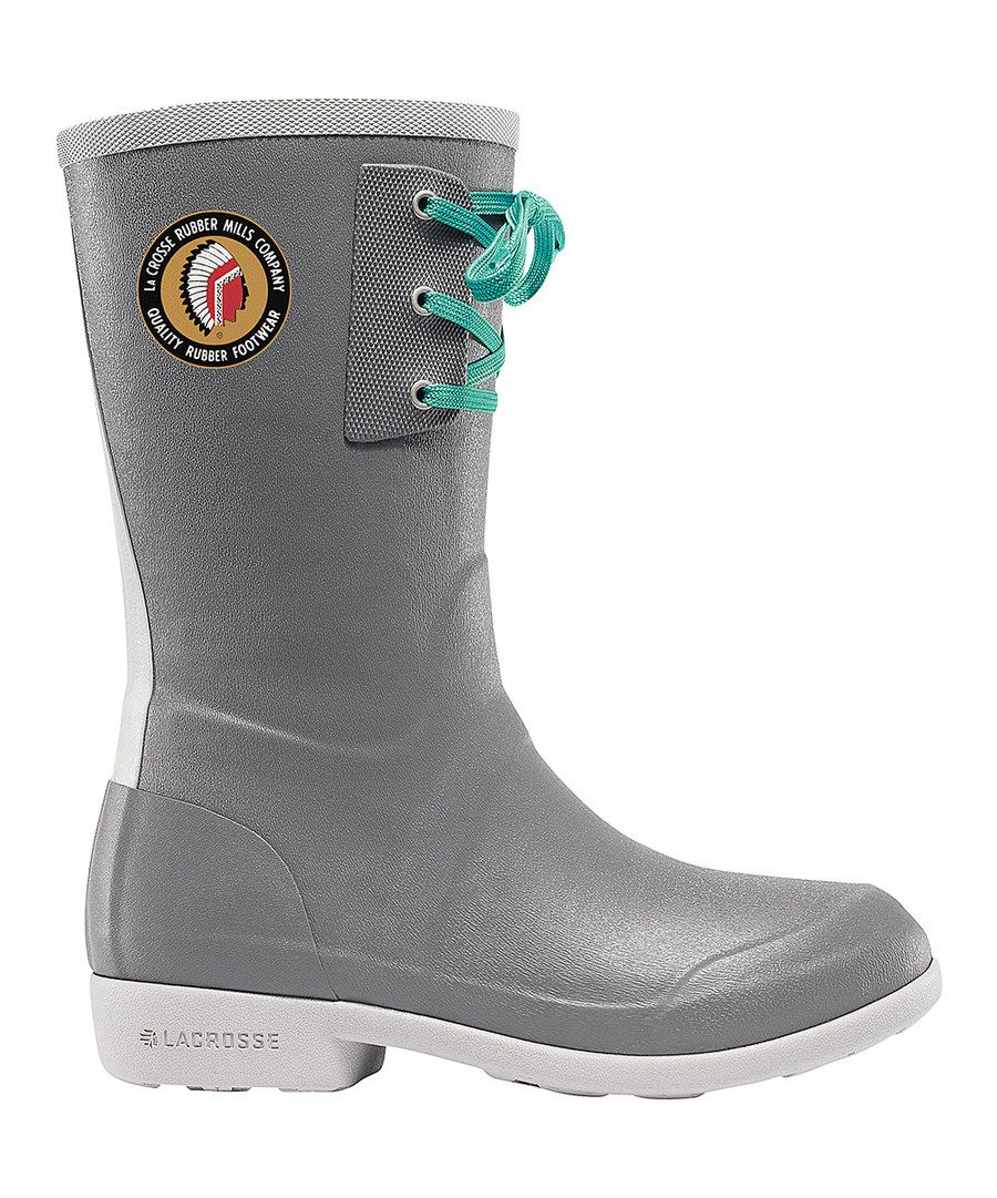 Look at this LaCrosse Footwear Gray Hixon Rain Boot on #zulily today!