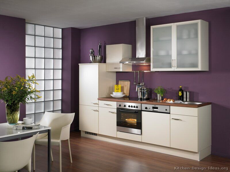 Kicthen Designs, White Kitchen Ideas With Purple Wall: White Kitchen ...