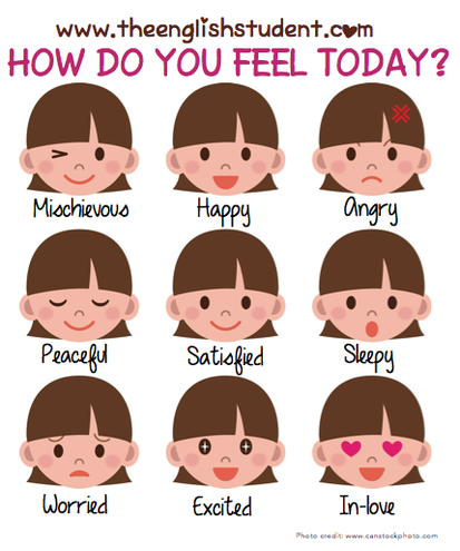 ESL, mood, adjectives, feelings | All Things For English Learners ...