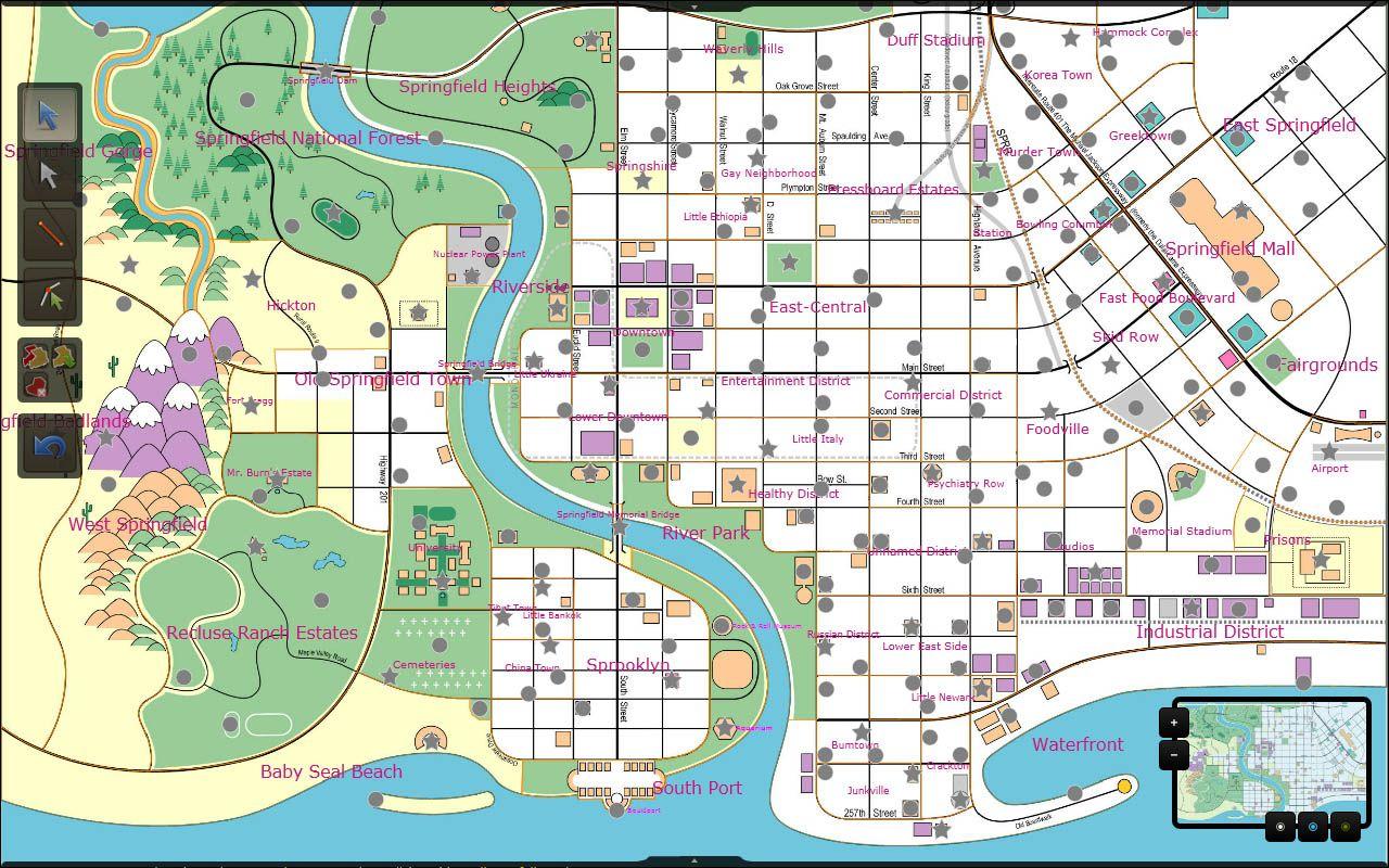Map Of Springfield Simpsons U2013 Bnhspine.com