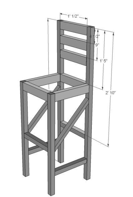 Bar Stool Blueprint Diy Furniture Plans Diy Bar Stools Diy Stool