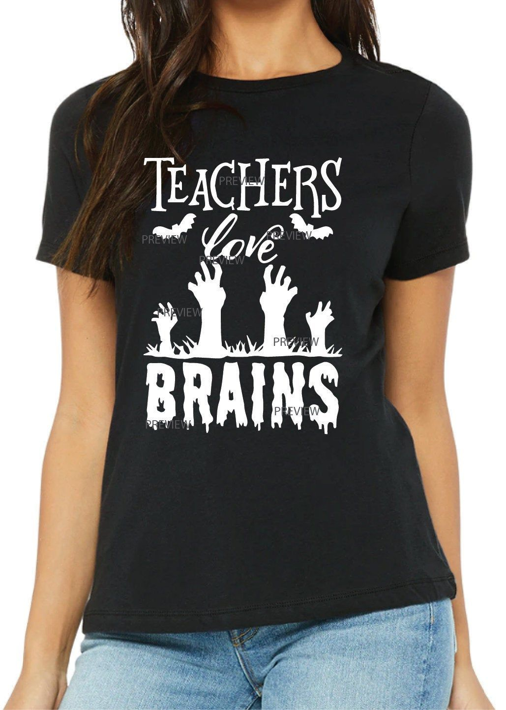 Teachers Love Brains SVG File Fun christmas shirts, Kc