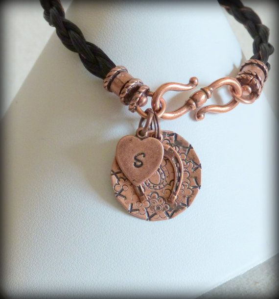 Ponylocks Custom Horsehair Jewelry Home: Custom Horsehair Bracelet With Antique Copper By