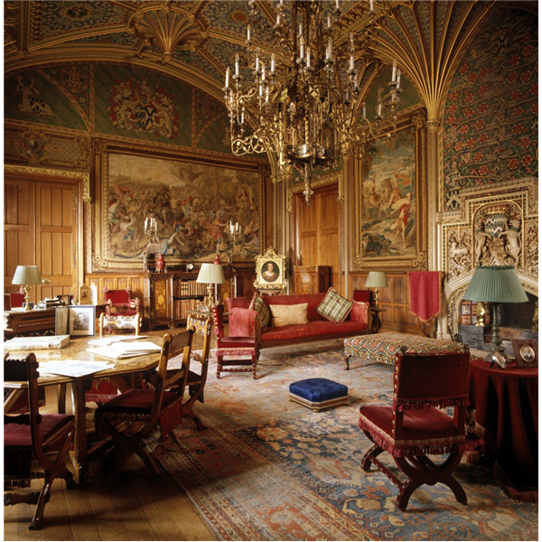 The gothic drawing room designed by a w pugin at eastnor for Dep decoration interieur