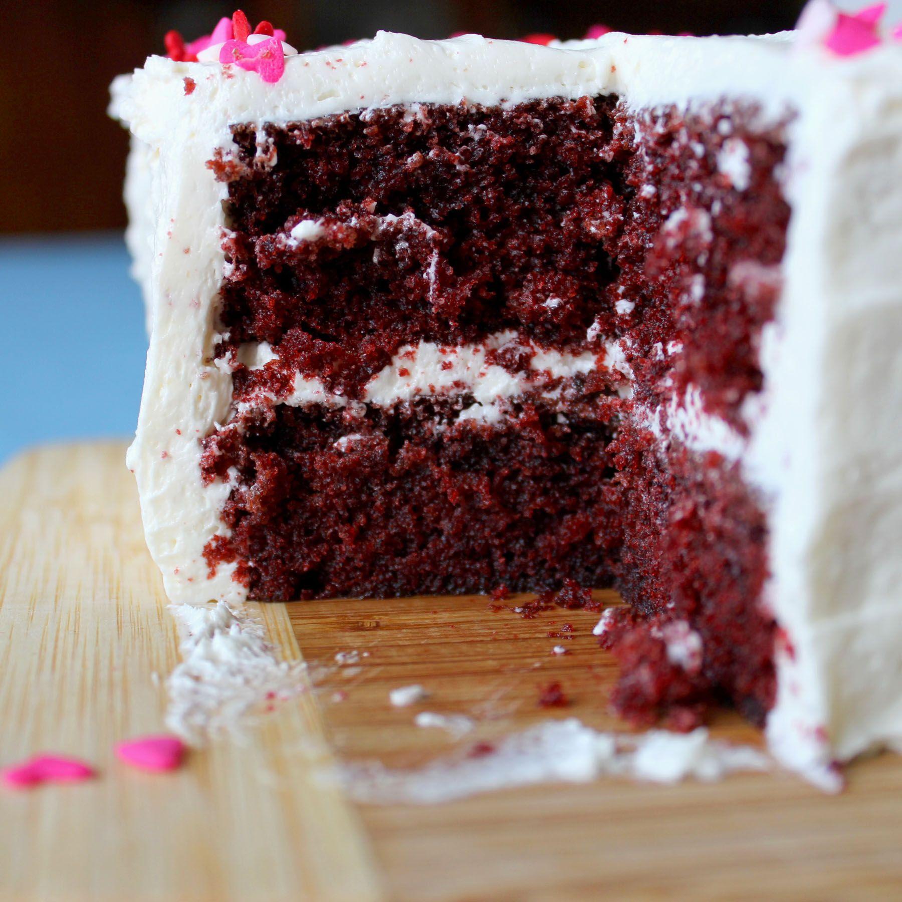 Traditional Red Velvet Cake Death by Red Velvet Pinterest Red