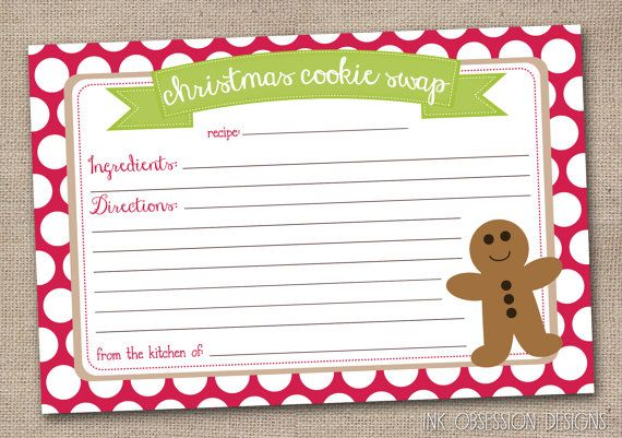 This Item Is Unavailable Etsy Christmas Cookie Exchange Christmas Recipe Cards Cookie Exchange