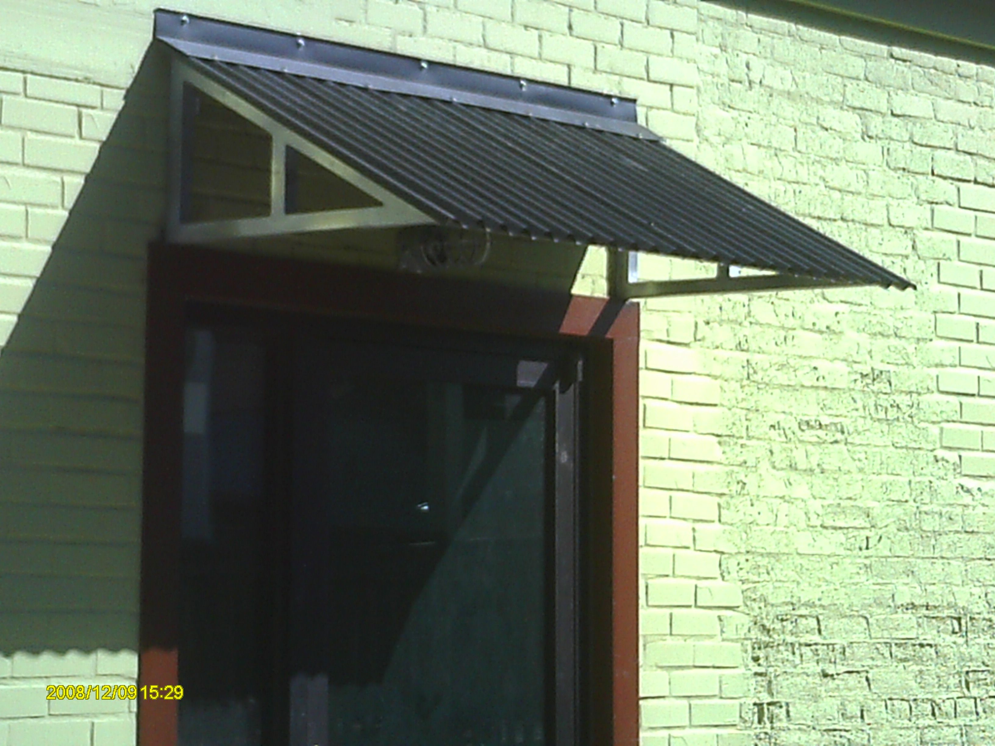 All Of Our Awnings And Covers Can Be Colored To Match Your Individual Tastes And Metal Awning Metal Awnings For Windows Metal Door Awning