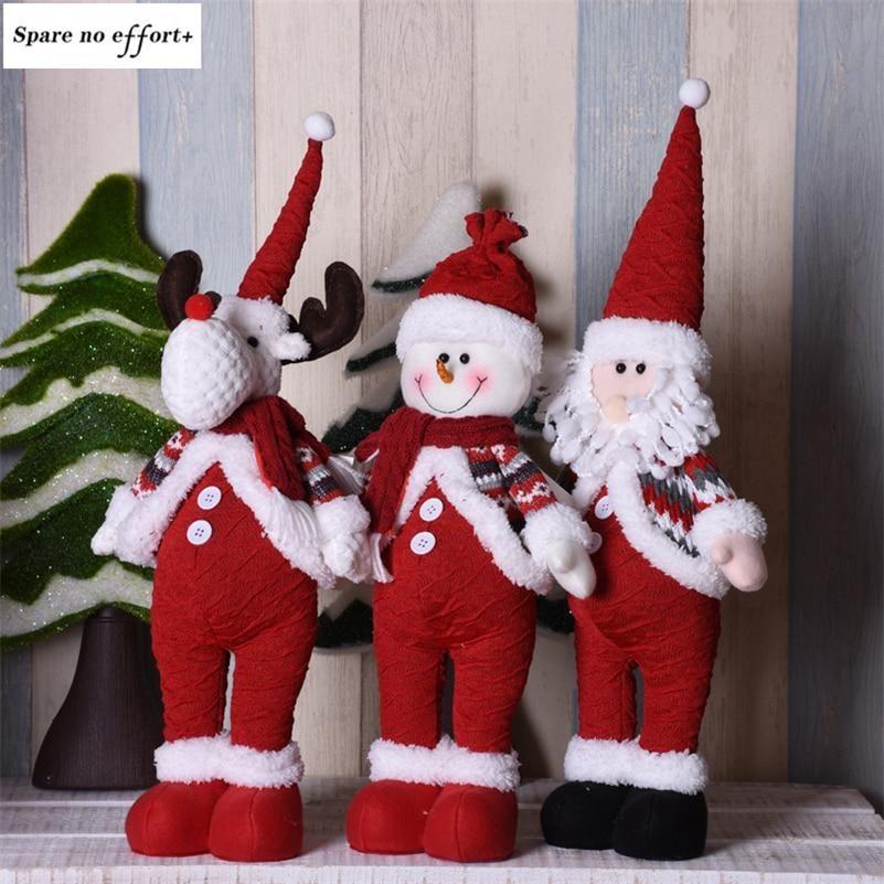 Christmas Gift Santa Claus Snowman Elk Toy Ornaments Party Xmas Table Decor Doll