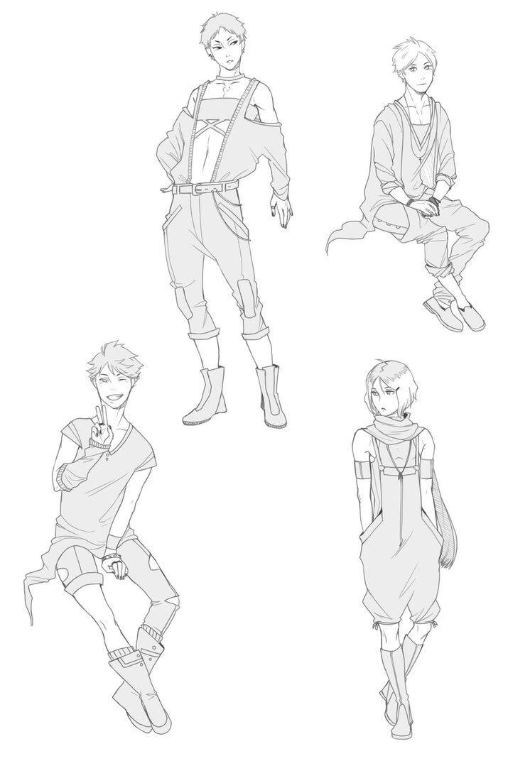 Haikyuu Fashion Character Design Sketches Drawing Base Haikyuu