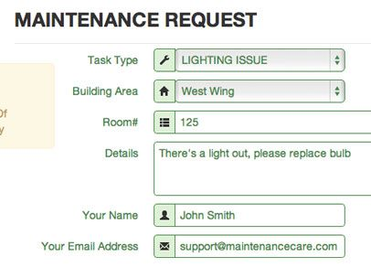 work order software Ideas for Serenity Assisted Living - maintenance request form