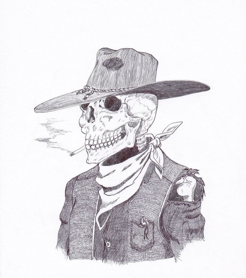 cowboy skull drawings | Camera Data | Skulls in 2019