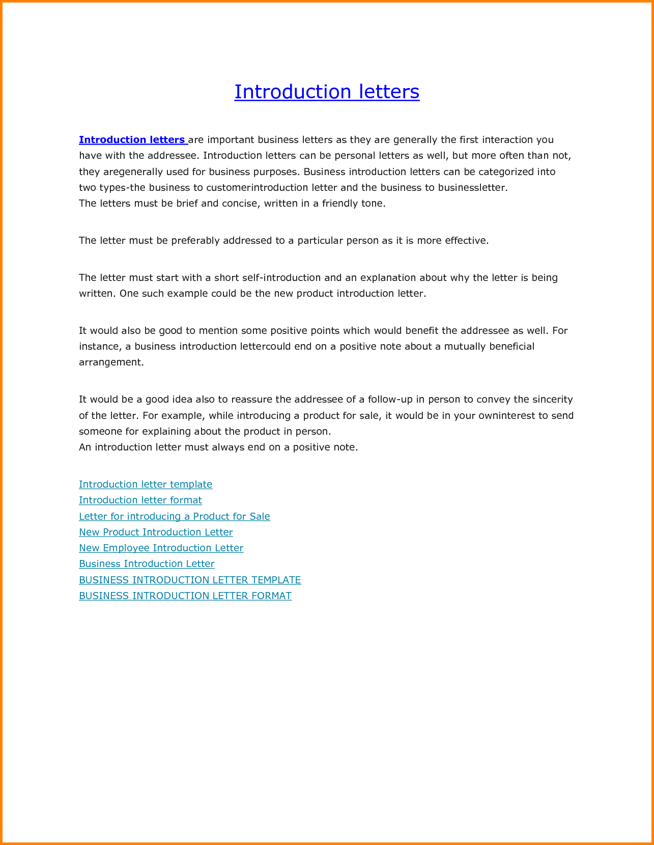 Business Introduction Letter Sample For New Build Resume Free