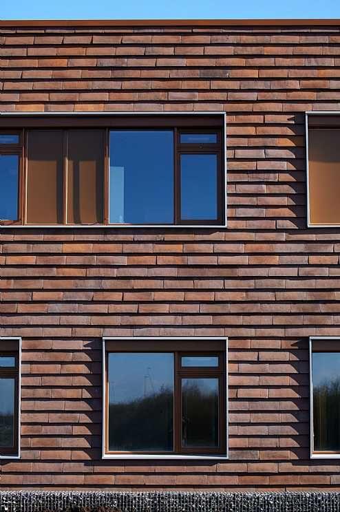 Bronderslev Sundhedshus C F Moller Photo Thomas Molvig Tile Cladding Brick Facade Architecture