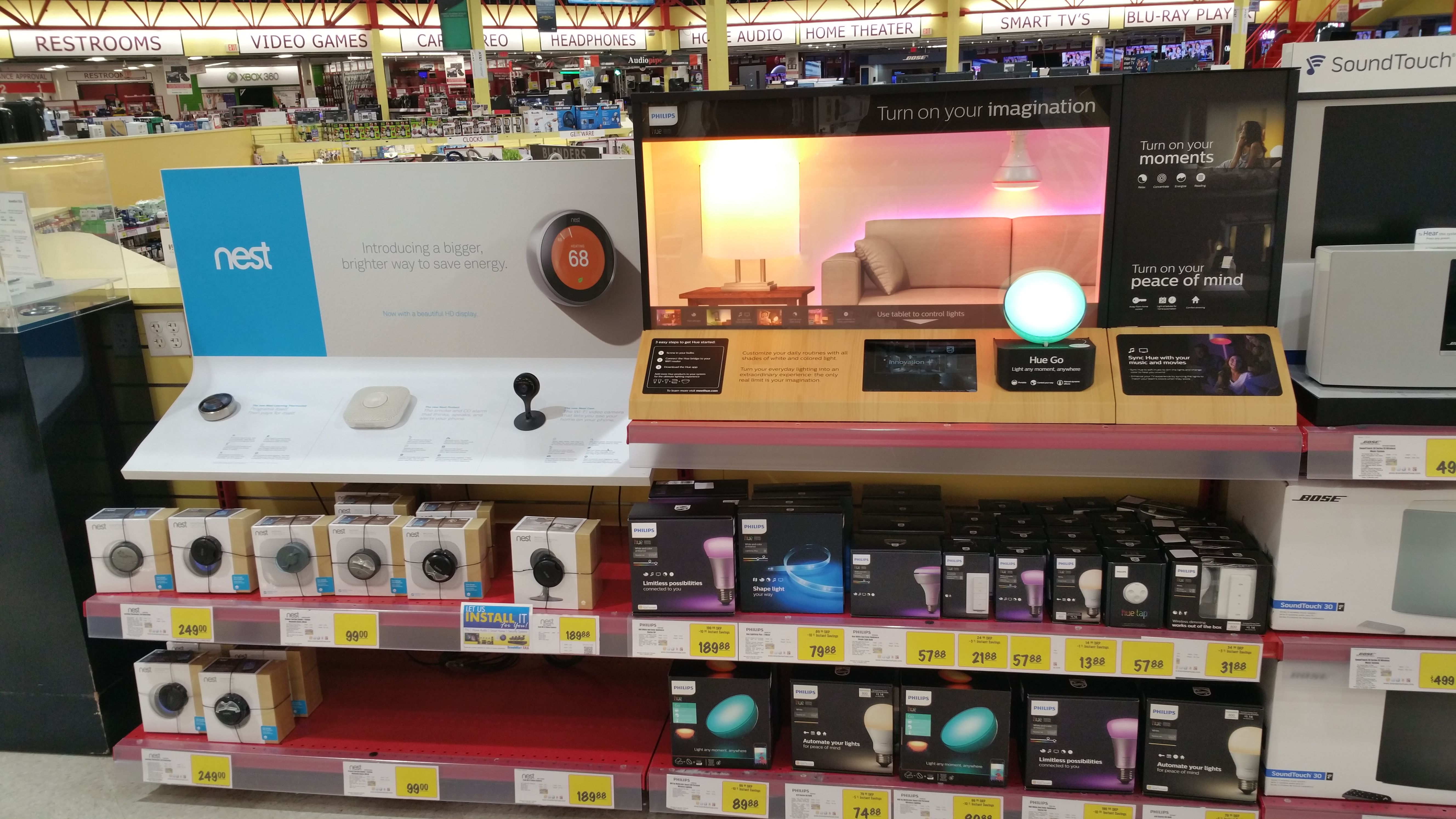 Philips Hue Lighting Is At Brandsmart Usa Led Bulbs With Dimming Brightening Features At Your Fingertips Mobile Contro Hue Philips Home Automation Led Bulb