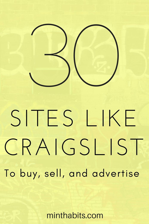 Personal ad websites like craigslist