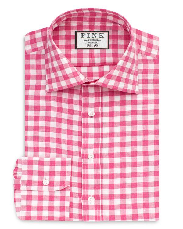 A classic check pattern gives this dress shirt from Thomas Pink a ...