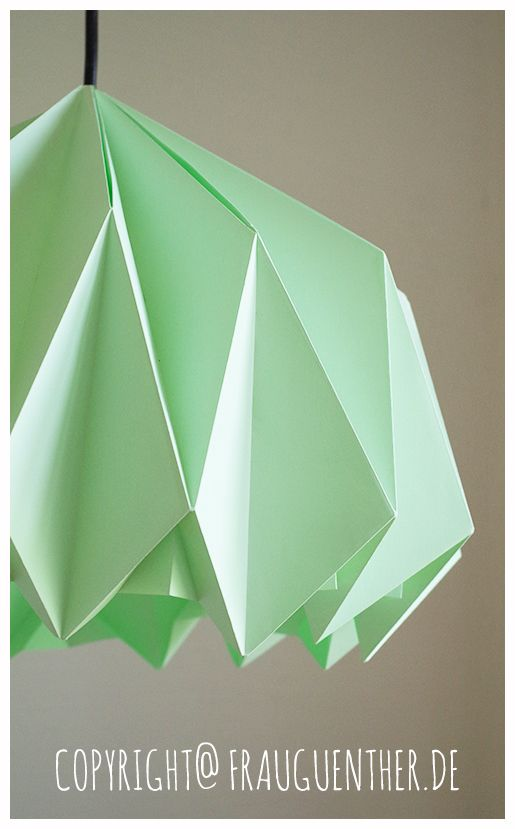 diy origami papierlampe origami paper lamp lampe aus papier falten tutorial anleitung. Black Bedroom Furniture Sets. Home Design Ideas