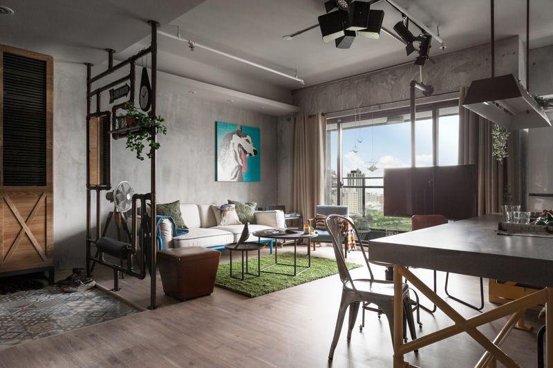 Een eclectische mix van industrieel, vintage en modern interieur ...