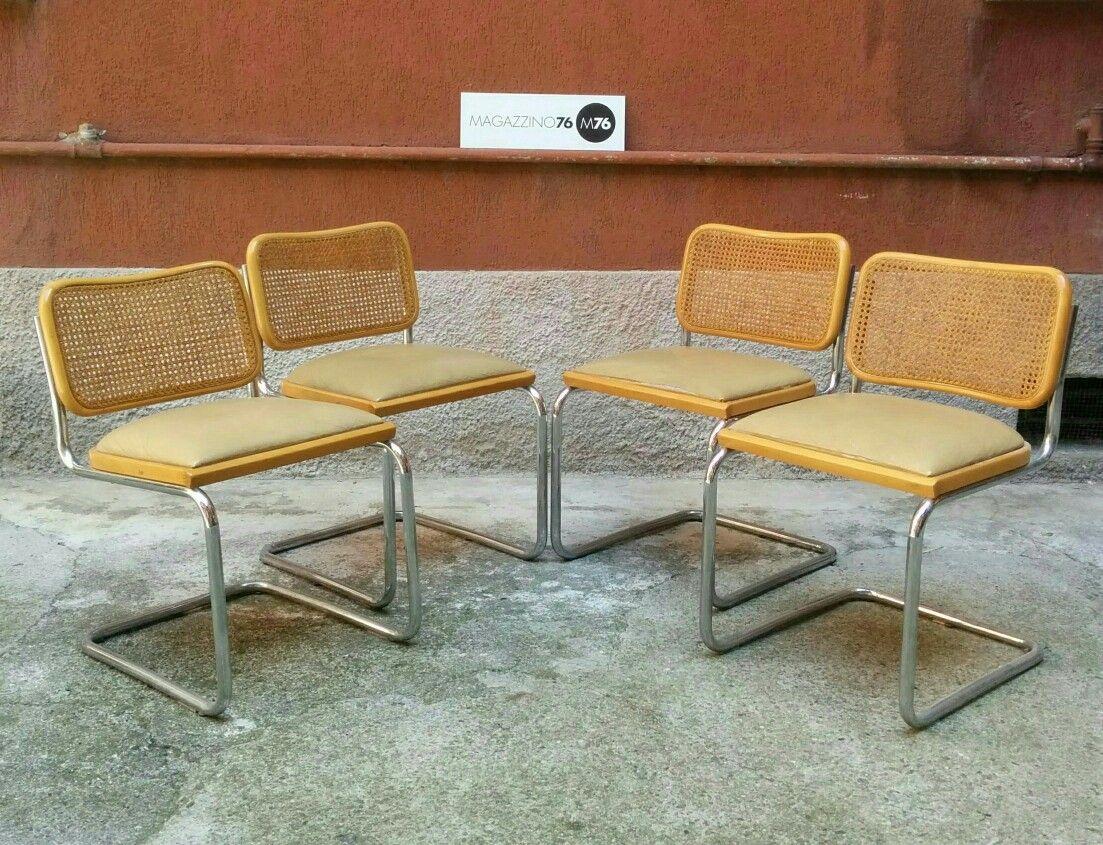 Sedie Gavina ~ Set di 8 sedie cesca. gavina anni 70 paglia di.vienna in ottime