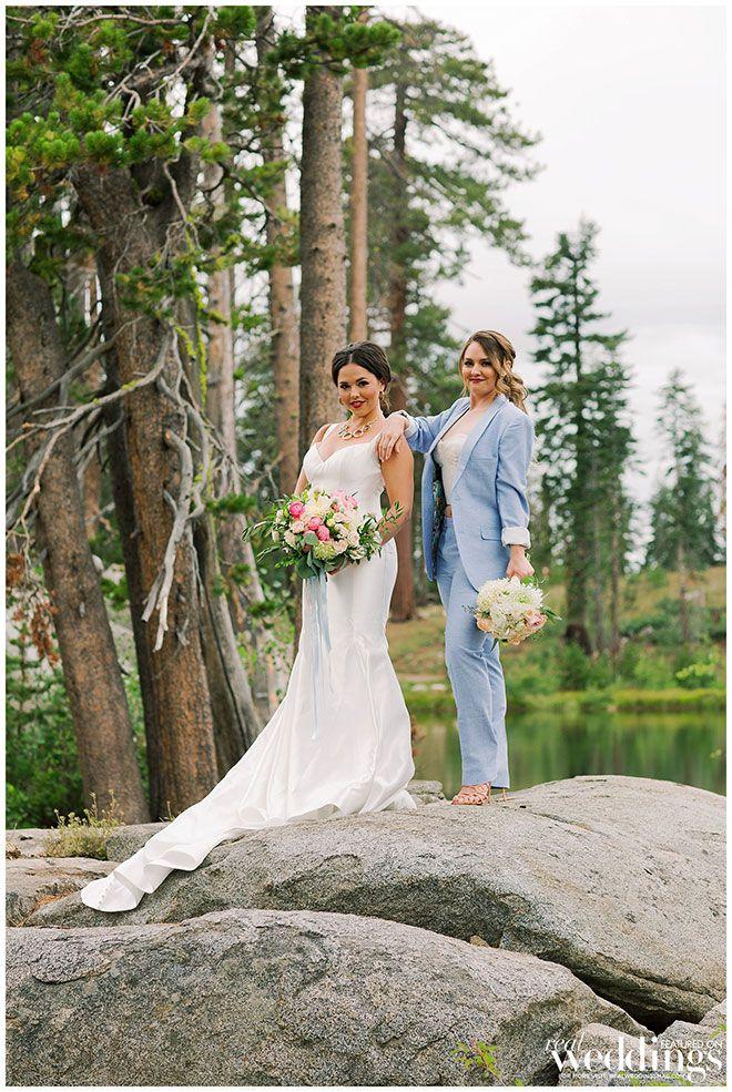 Bridesmaid Suit   Tahoe Mountain Wedding Inspiration