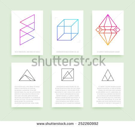 Set of business card templates line geometric hipster symbols for set of business card templates line geometric hipster symbols for logotype design abstract modern reheart Choice Image