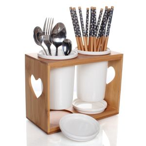 We Sell Best China Bamboo U0026 Wooden Kitchenware U0026 Tableware, Buy Top Quality  China Bamboo Utensil Holder Spoon Holder With Good Quality From China ...