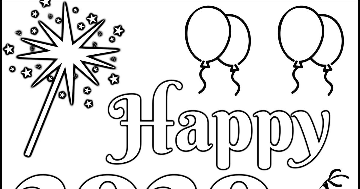 New Year S Coloring Page 2020 Let Your Light Shine Free Pin By