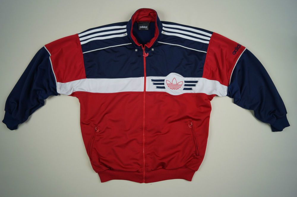 a11069bccee14 ADIDAS LIMITED EDITION D7 F186 Vintage Men s Jacket Top Size L Red ...