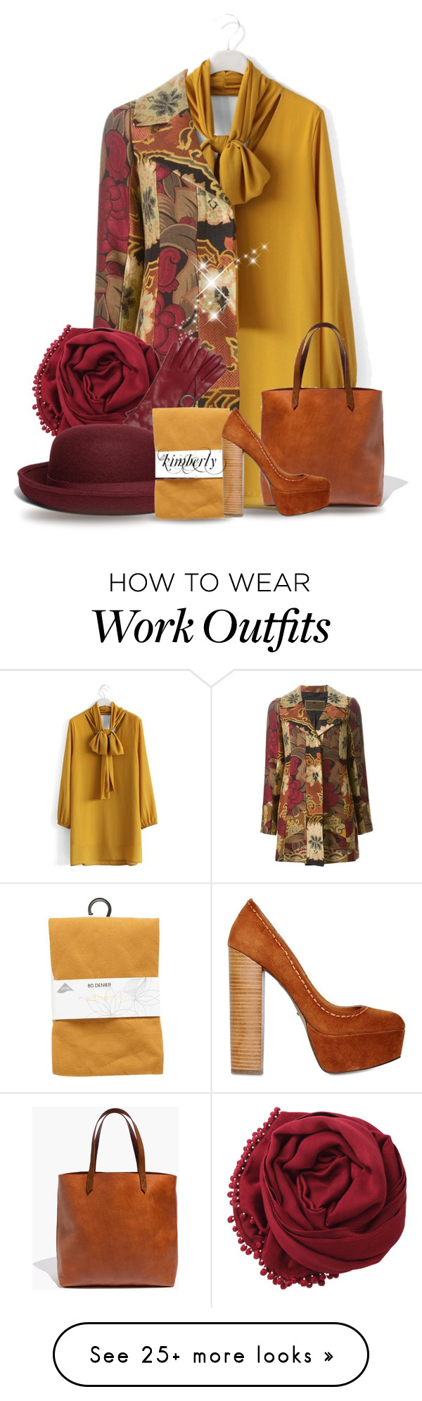 """Fall Workday"" by cavell on Polyvore featuring moda, Chicwish, Madewell, Etro, Bajra, Roeckl, Brooks Brothers, Red Herring y Carvela Kurt Geiger"