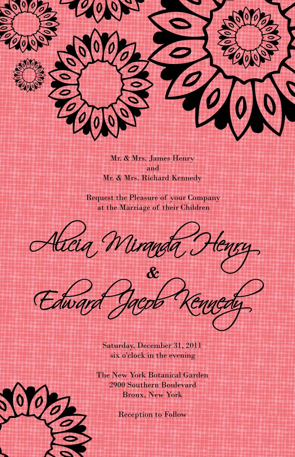 Flower Power Design Wedding Invitation I used Adobe Photoshop Shapes ...