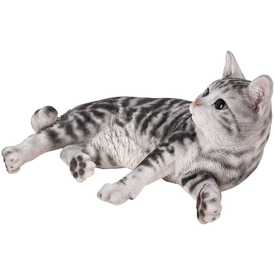 Hi Line Gift 8 In H X 11 In W Black Garden Statue Lowes Com In 2020 American Shorthair Cat American Shorthair Cats And Kittens