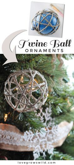 Twine Ball Ornaments Rustic charm, Twine and Ornament