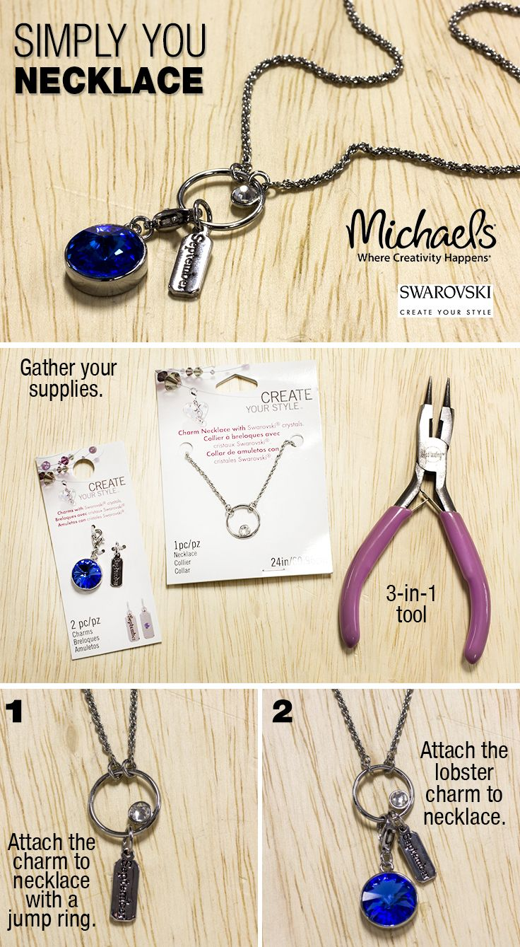 Create a personalize simply you necklace using swarovski