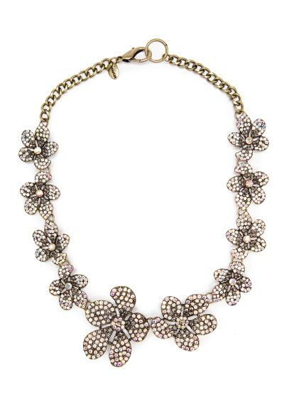 MANGO - TOUCH - Crystal flowers necklace