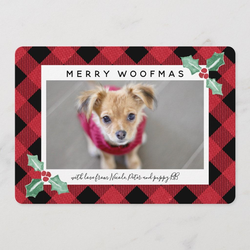 Spread cheer this year with this classic and timeless holiday card. Add a photo of your family, kids or your favorite four-legged friend. All text is customizable.