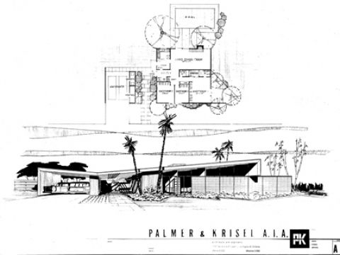 The classic Krisel butterfly house, Palm Springs   Architects and ...