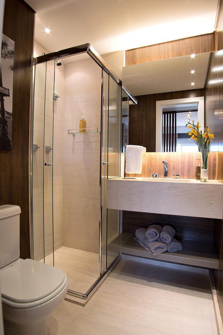 54 Fotos de Box para Banheiro Inspiradoras  Decoration, House and Bath -> Banheiro Moderno Com