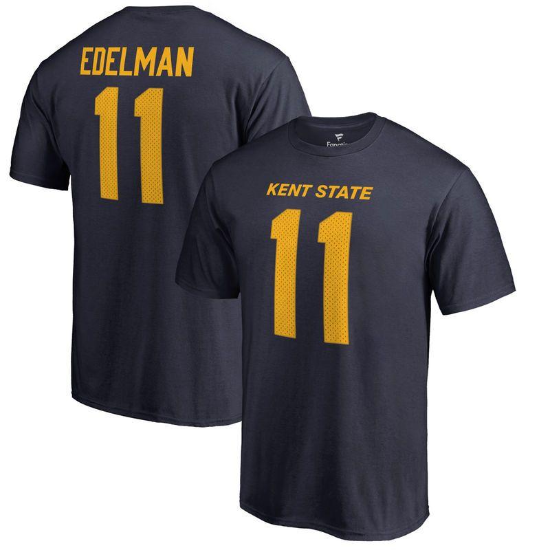 Julian Edelman Kent State Golden Flashes Fanatics Branded College Legends Nsme & Number T-Shirt - Navy