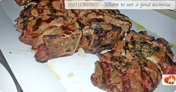 Best restaurants in #Florence where to eat a great bistecca (t-bone steak) - by VisitFlorence.com travel guide