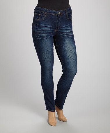 3b0dfc7a53c Love this Dark Indigo Skinny Jeans - Plus by be-girl on  zulily!   zulilyfinds