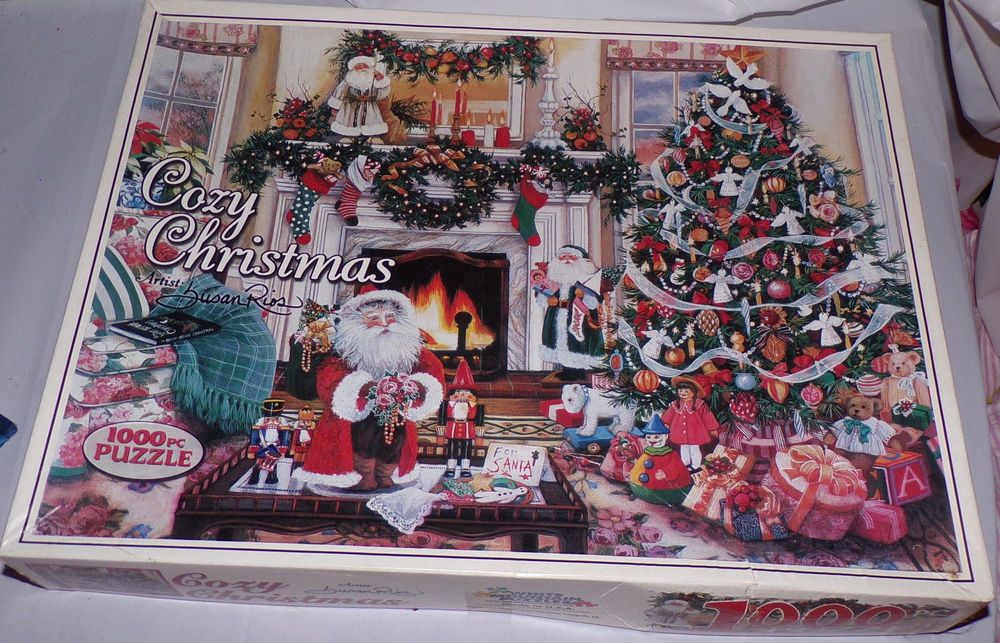 White Moutain Puzzles Cozy Christmas Susan Rios jigsaw puzzle 1000