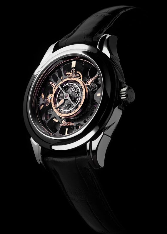 OMEGA : TOURBILLON CENTRAL CO-AXIAL PLATINE SQUELETTE