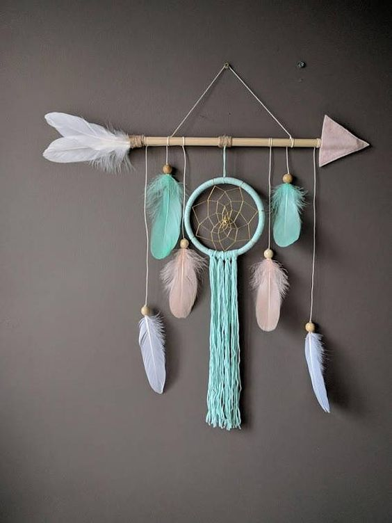 Photo of Arrow nursery dream catcher/ large baby mobile/ Large arrow wall hanging/ Baby shower gift
